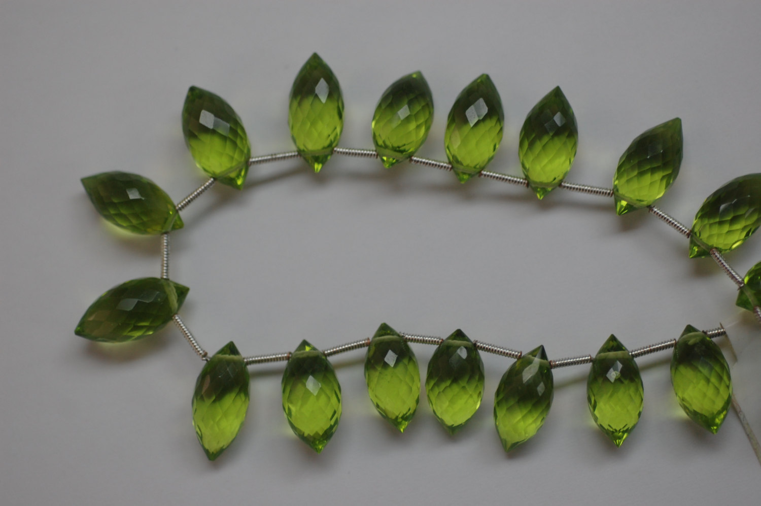 Hydro Green Quartz Puff Marquise Faceted