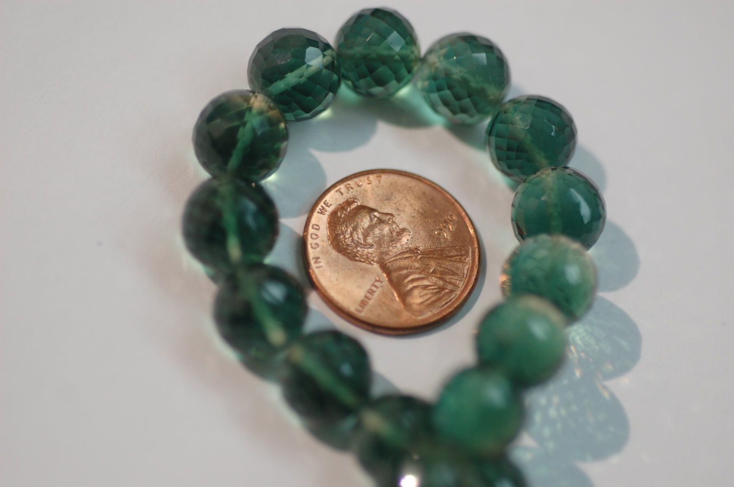 Hydro Green Quartz Round Beads Faceted