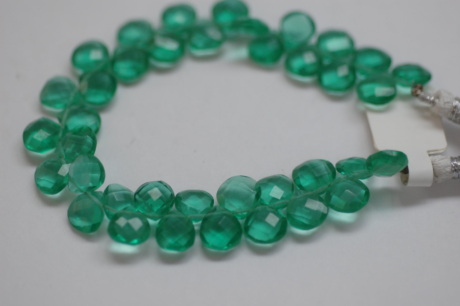 Hydro Quartz Green Hearts Faceted