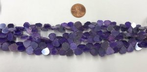 Natural Purple Moonstone Flat Hearts Smooth