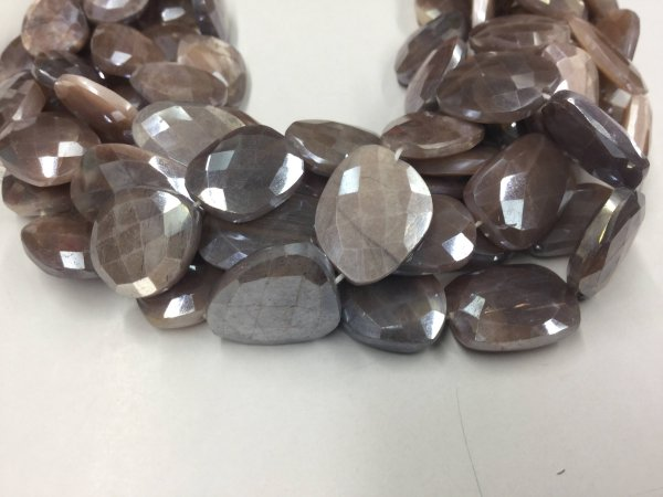 Chocolate Moonstone Nuggets Faceted