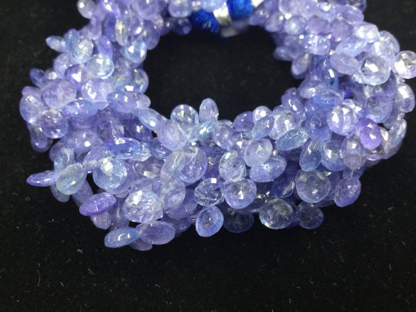 Tanzanite Hearts Faceted
