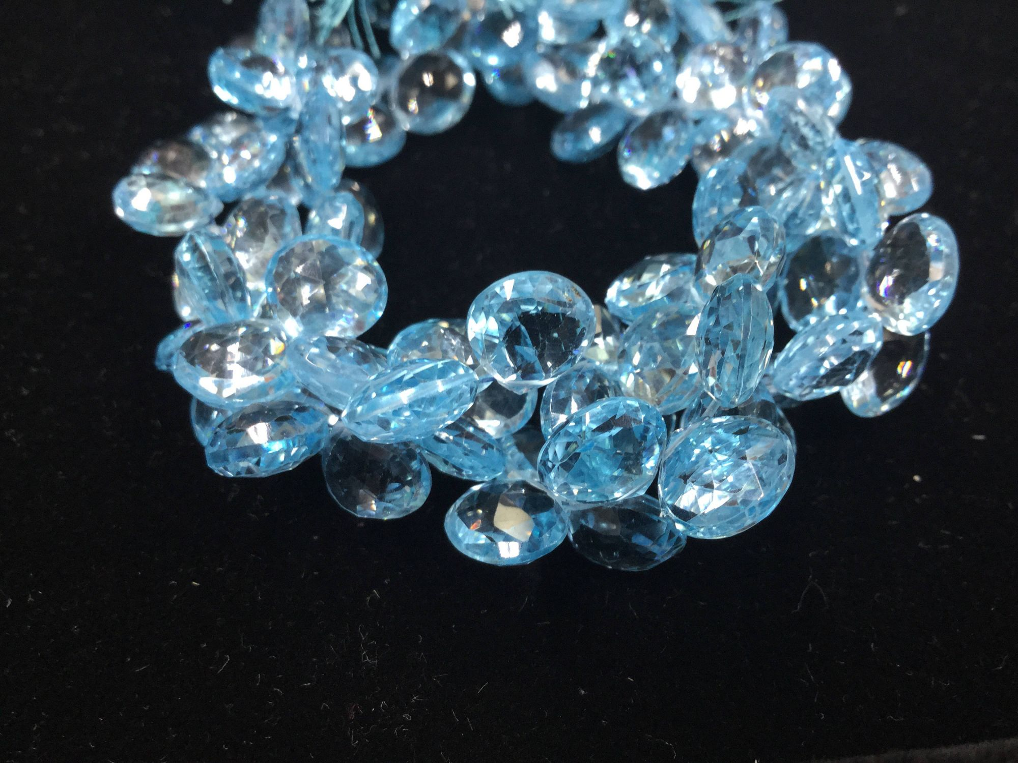 Blue Topaz Hearts Faceted