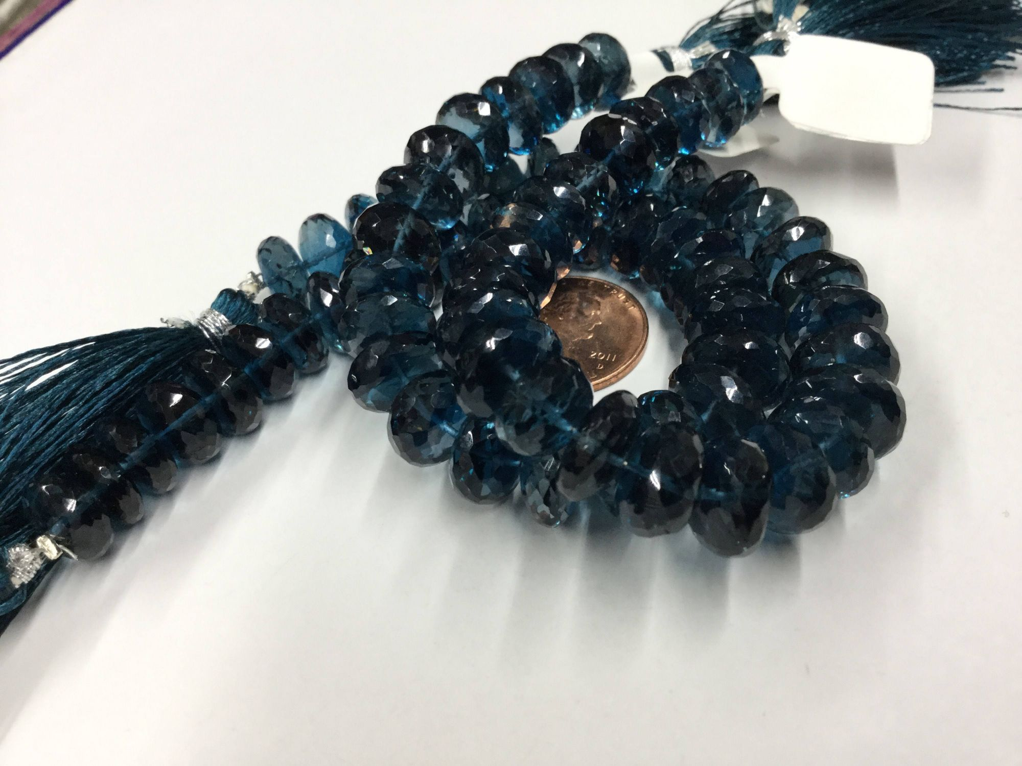 London Blue Topaz Rondelles Faceted