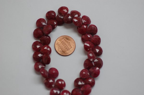 Beautiful Natural Ruby Hearts Faceted