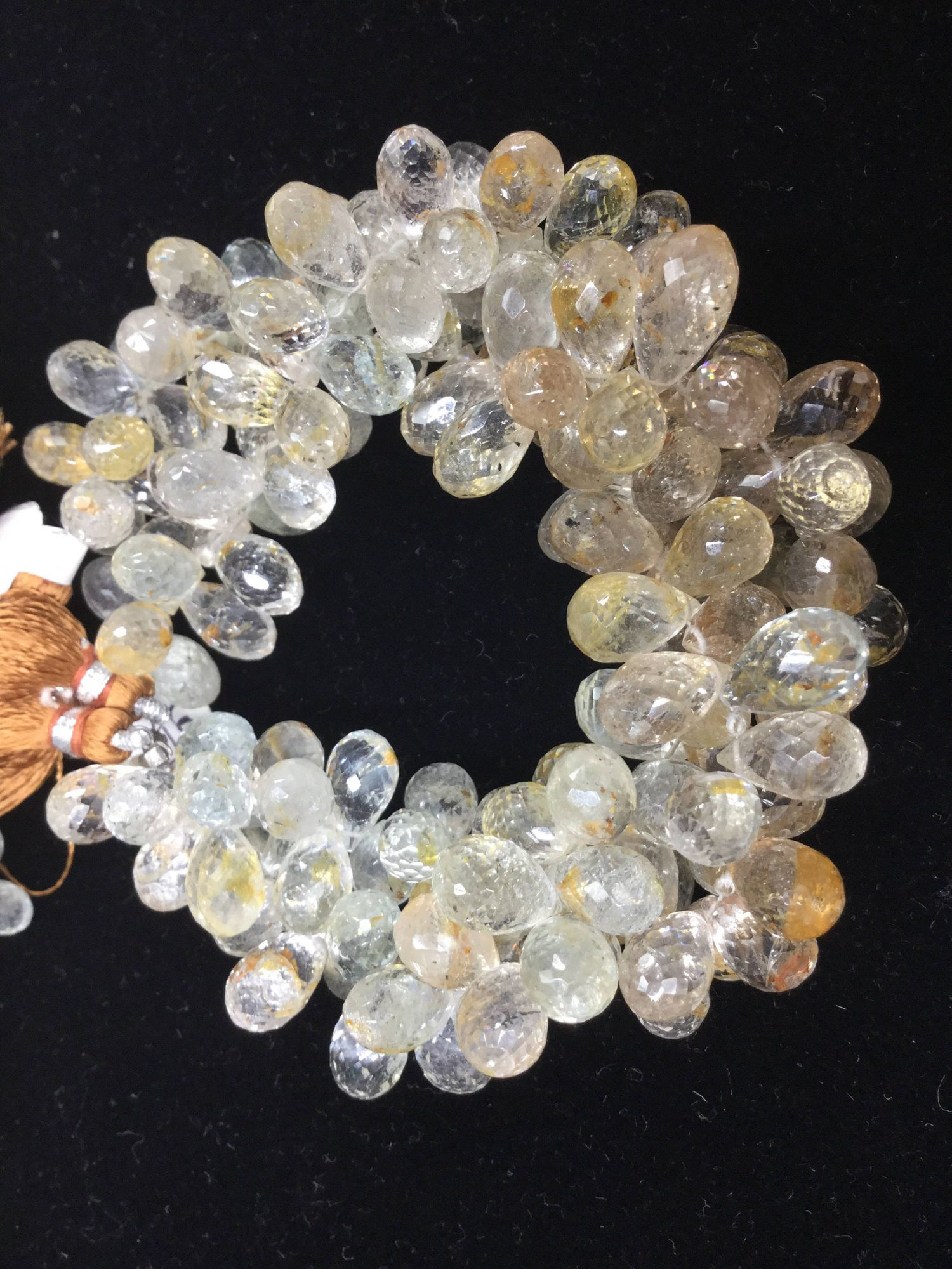Imperial Topaz Drops Faceted