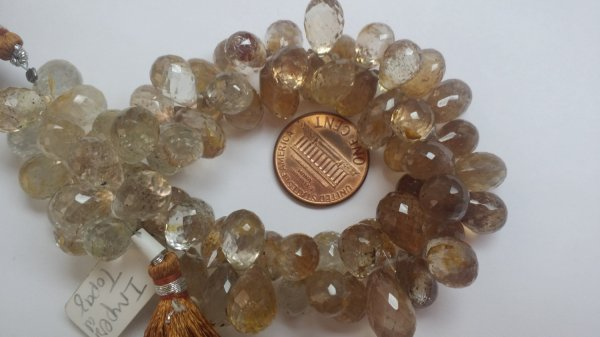 Imperial Topaz Drops Faceted (NATURAL)