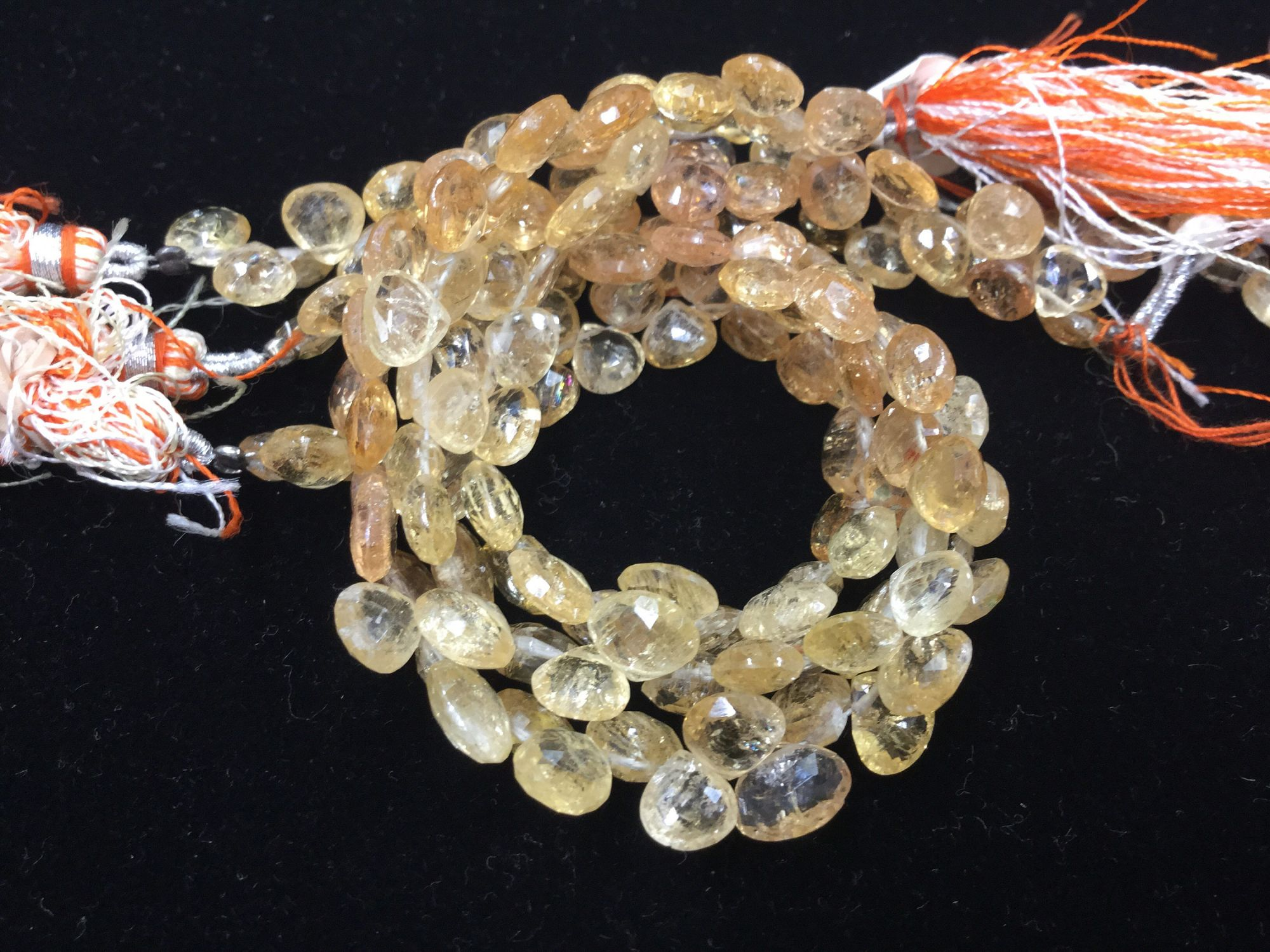 Imperial Topaz Hearts Faceted