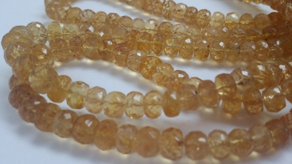 Imperial Topaz Rondelle Faceted