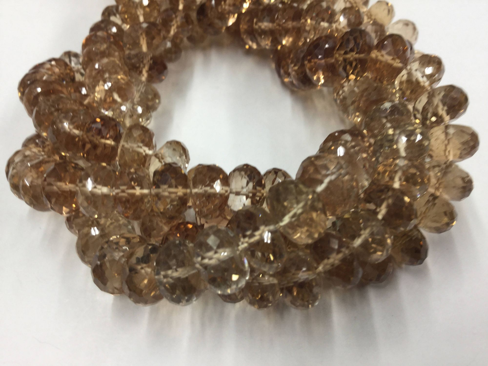 Imperial Topaz Rondelles Faceted