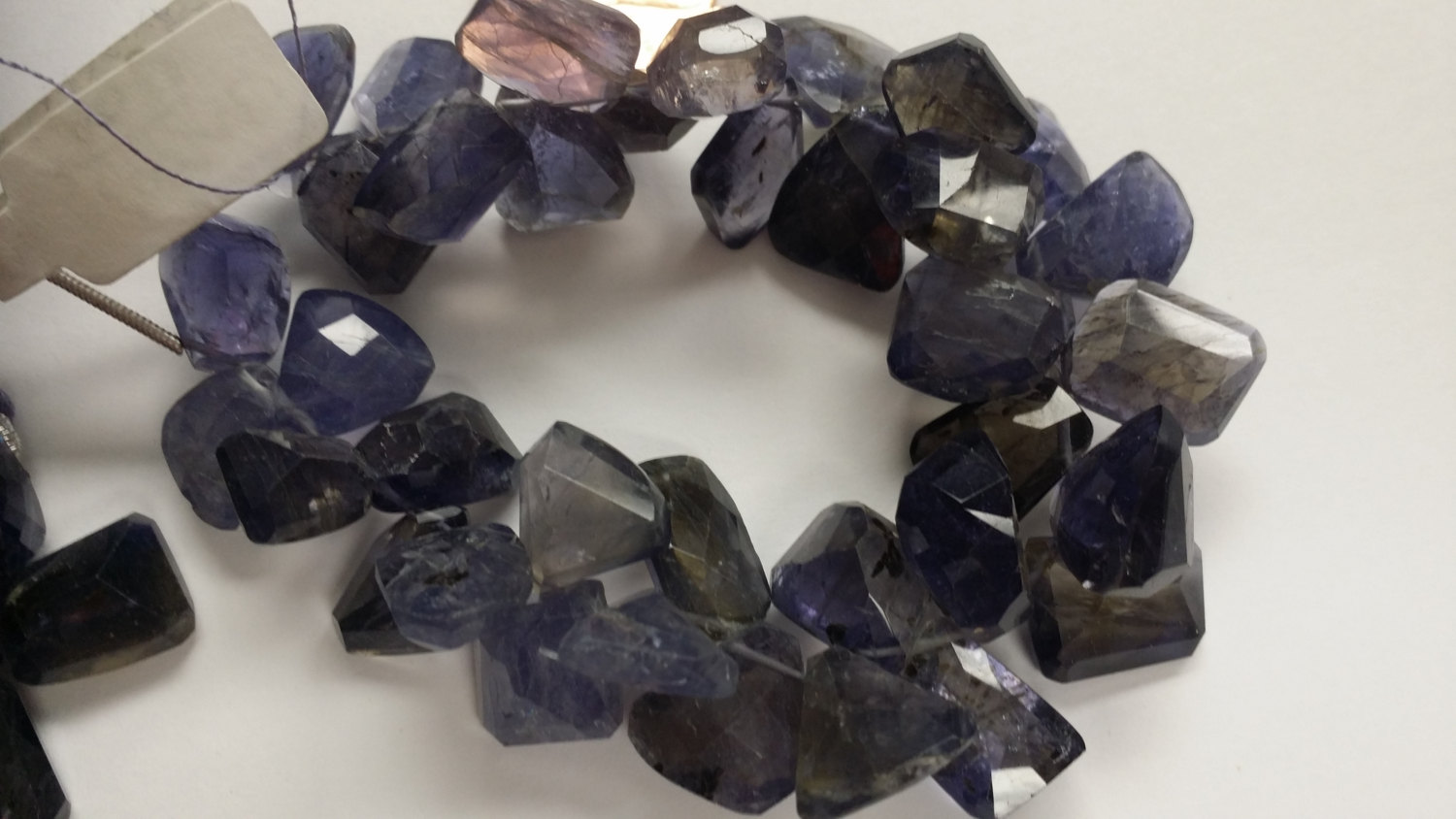 Iolite Funky Cut Faceted