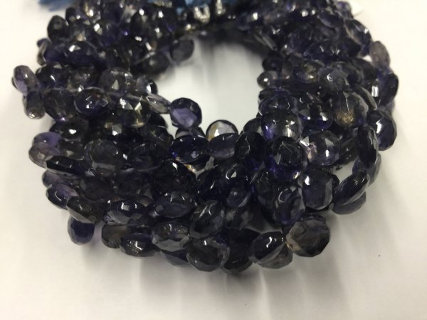 Iolite Hearts Faceted