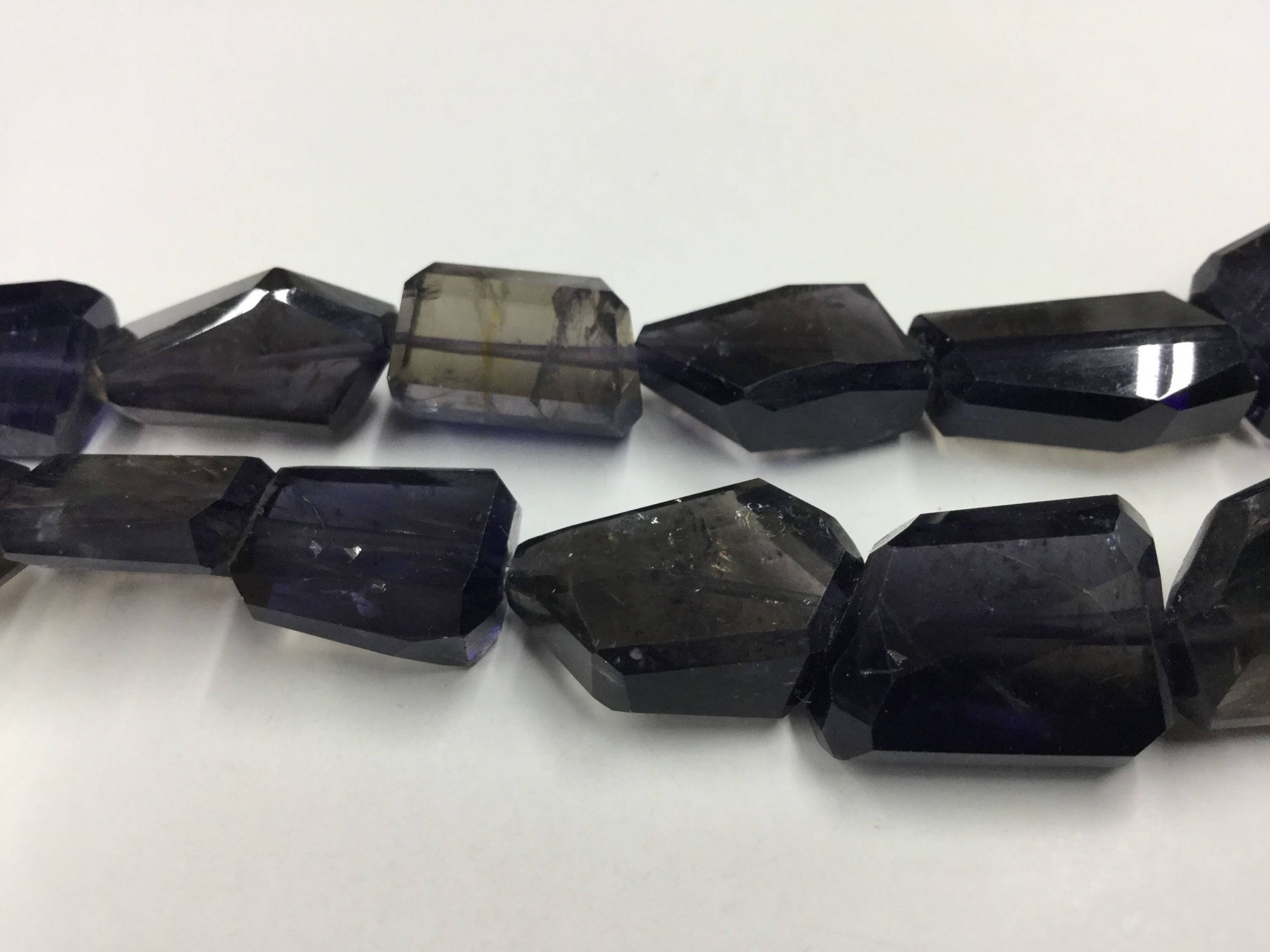 Iolite Nuggets Faceted