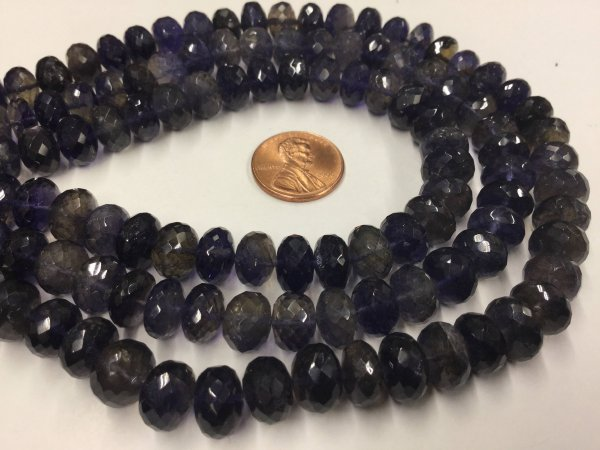 Iolite Rondelles Faceted