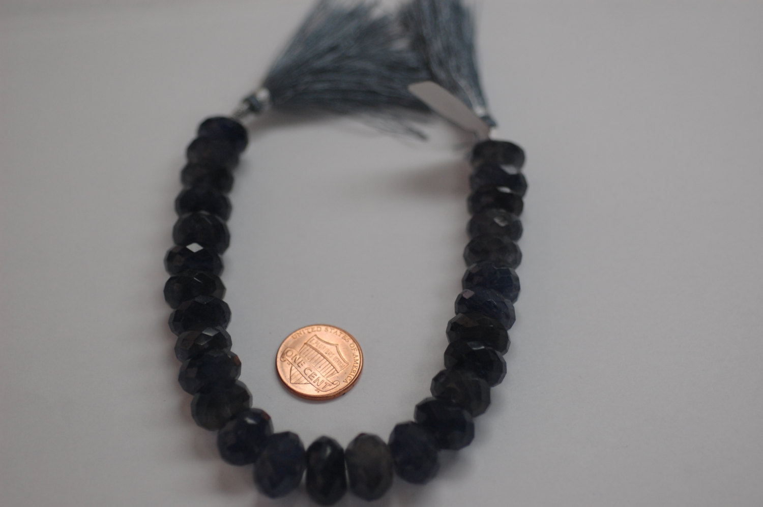 Iolite Rondelle Faceted