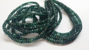 Kyanite Dyed Green Rondelles Faceted