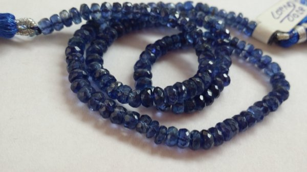 Kyanite Rondelle Faceted (Natural)
