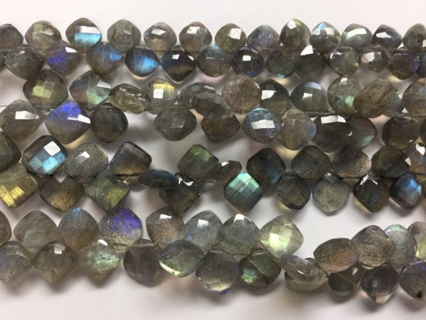 Labradorite Cushions Faceted