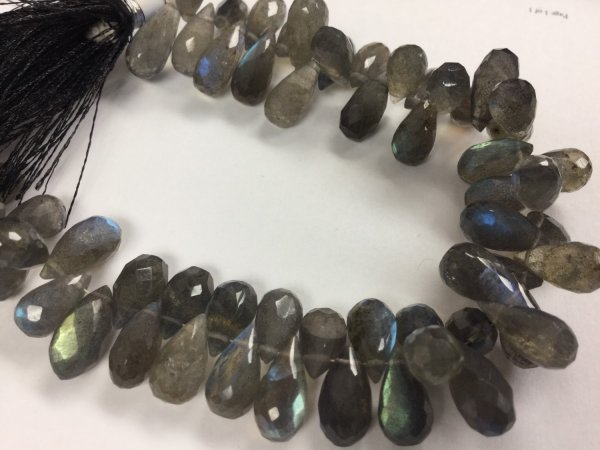 Labradorite Drops Faceted