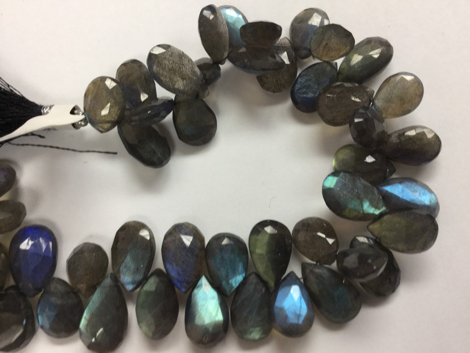 Labradorite Pears Faceted