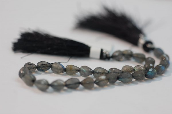 Labradorite Straight Drill Drops Faceted