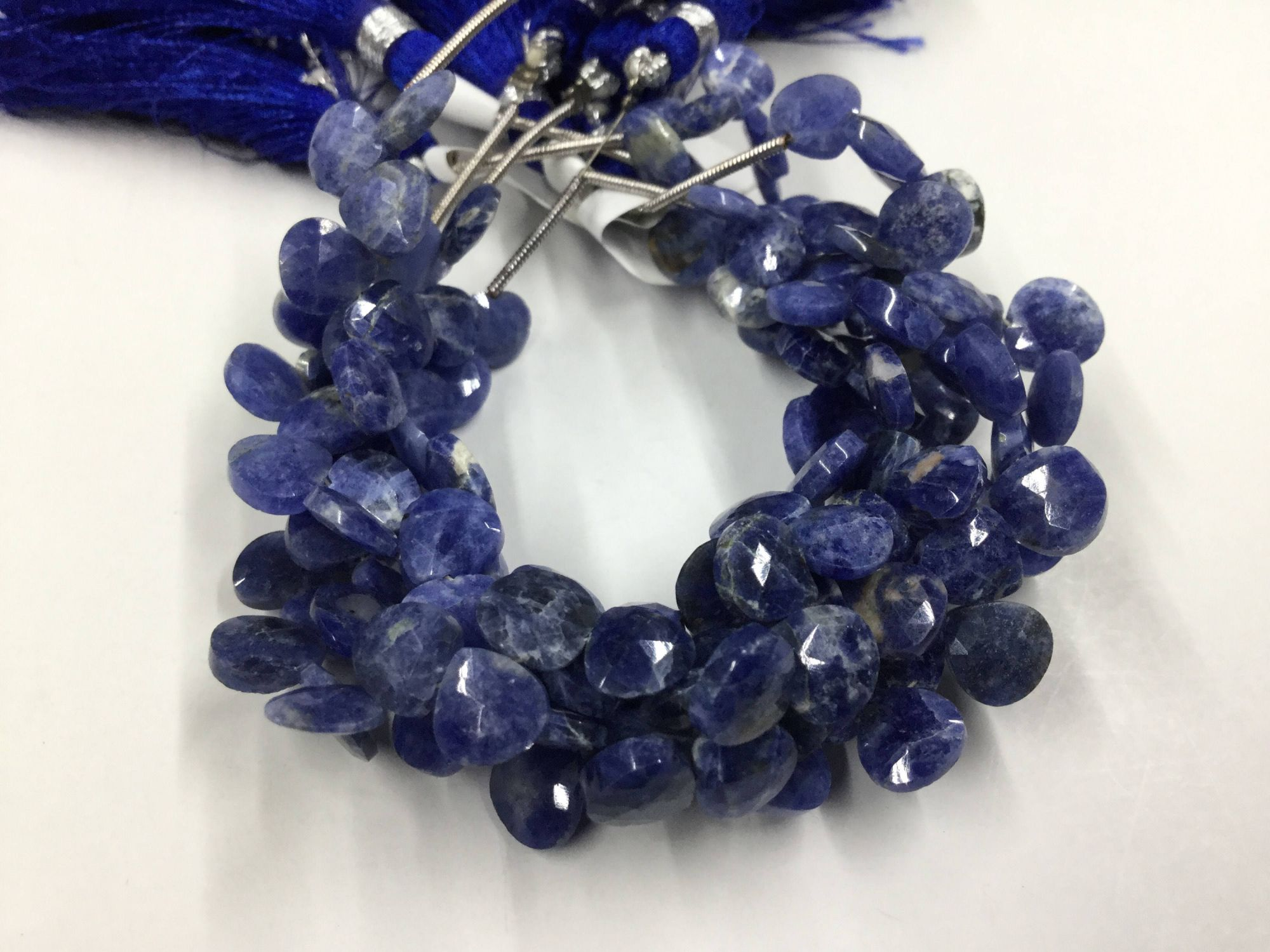 Lapis lazuli Hearts Faceted