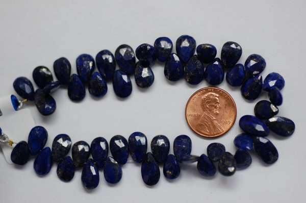Lapis Pear Faceted