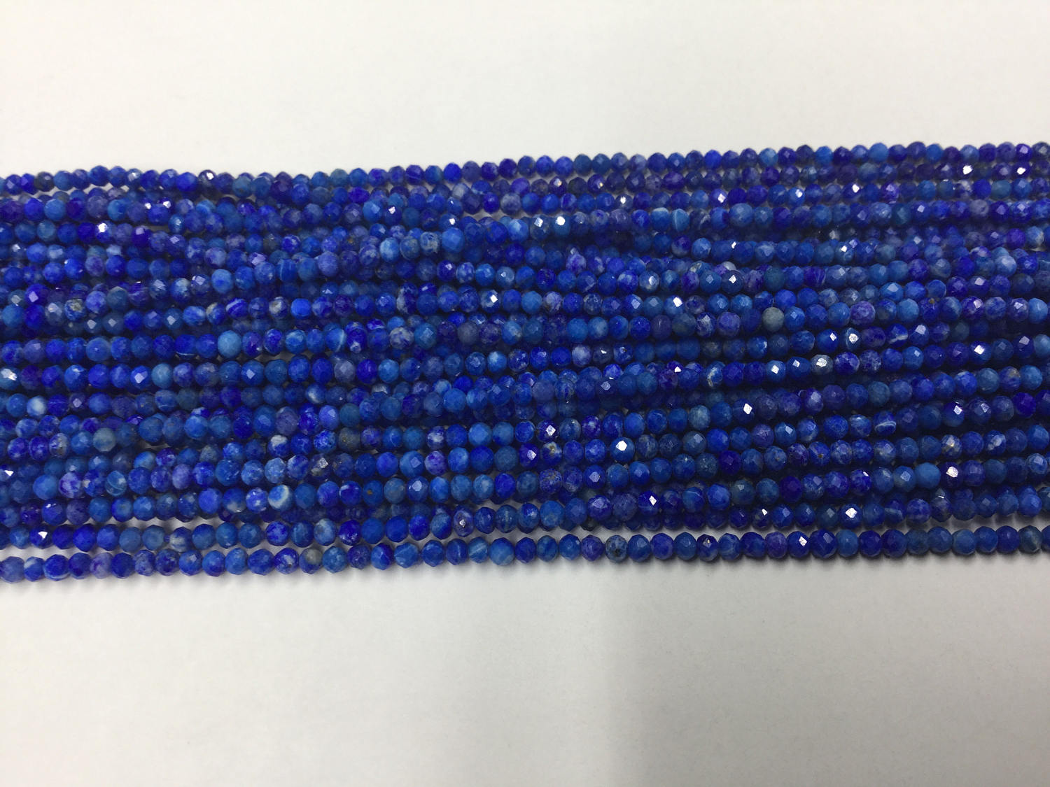 Lapis Rondelles Faceted
