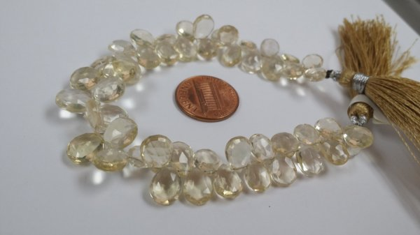 Light Beer Hydro Quartz Pear Faceted