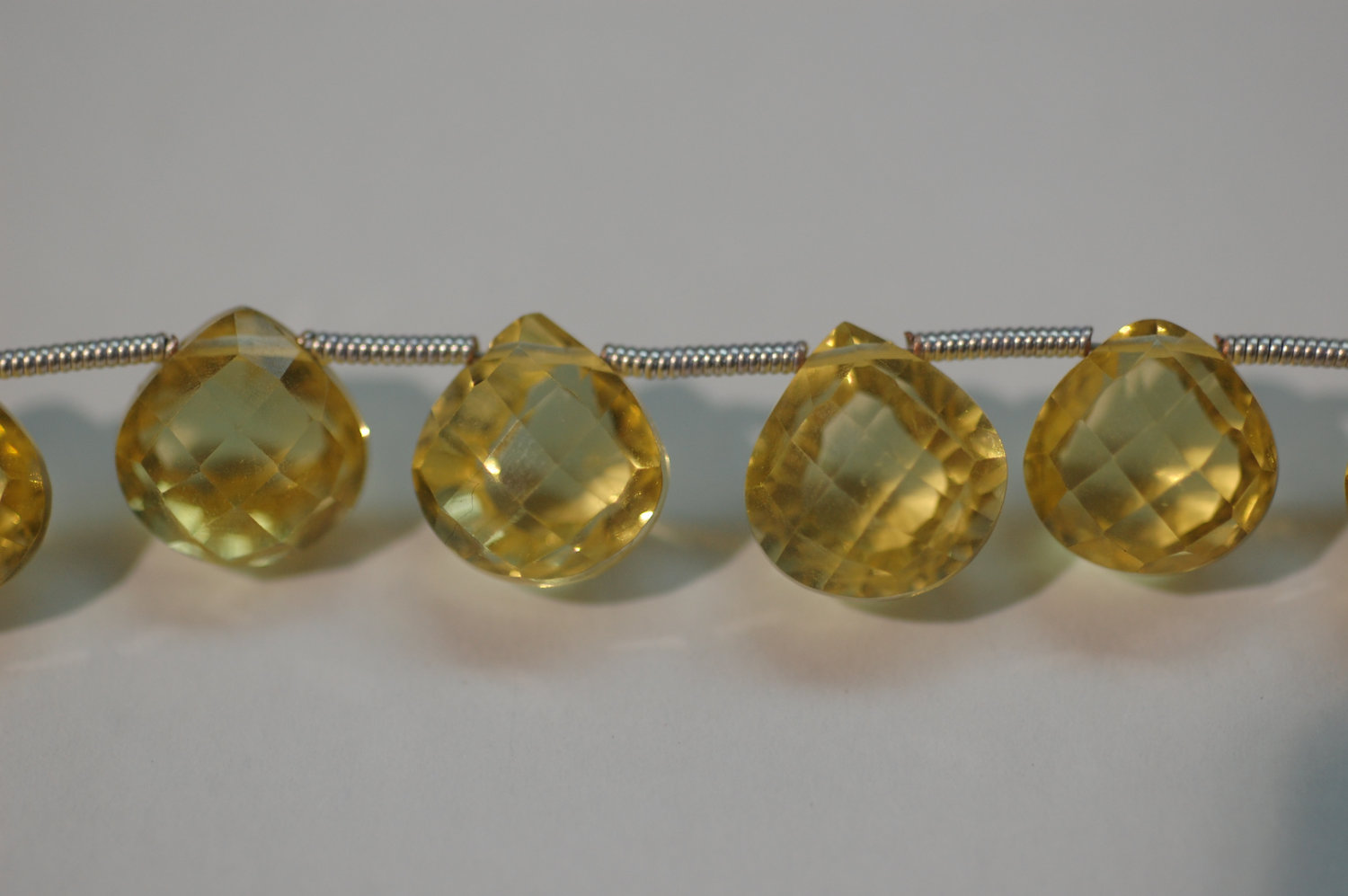 Light Citrine Hydro Concave Checkerboard Cut Heart