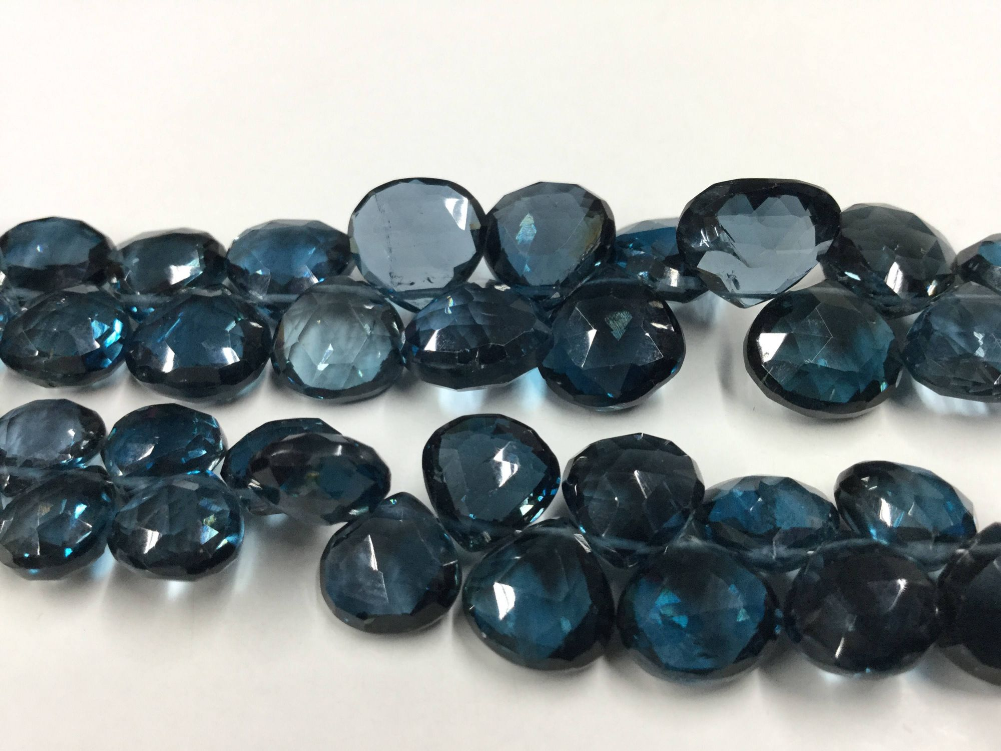 London Blue Topaz Hearts Faceted