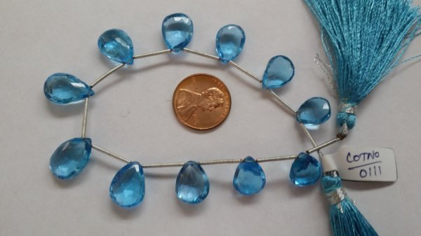 Swiss Blue Topaz Pears Faceted