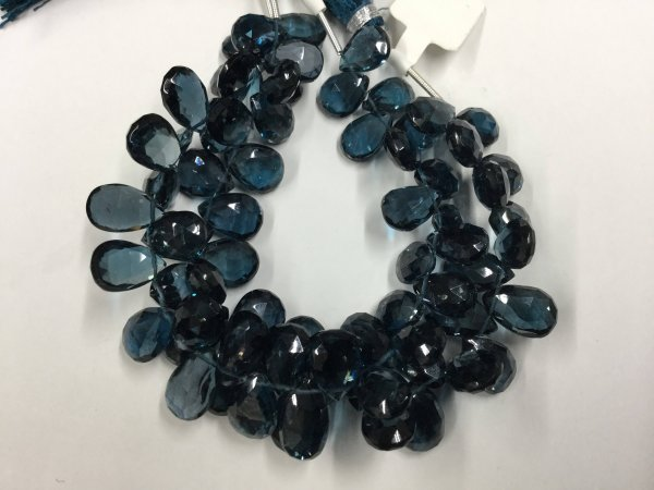 London Blue Topaz Pears Faceted