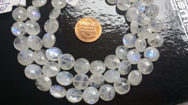 Moonstone Coins Faceted
