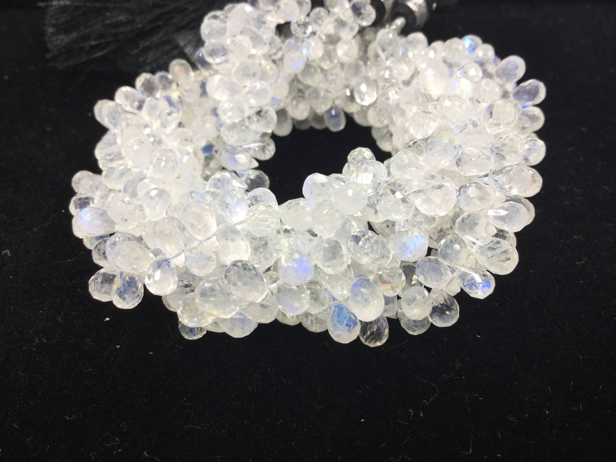 Moonstone Drops Faceted