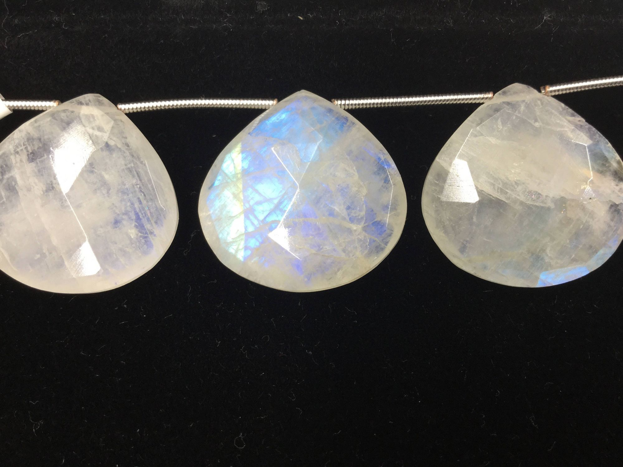 Moonstone Hearts Faceted