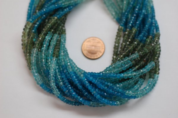 Multi Apatite Rondelle Faceted