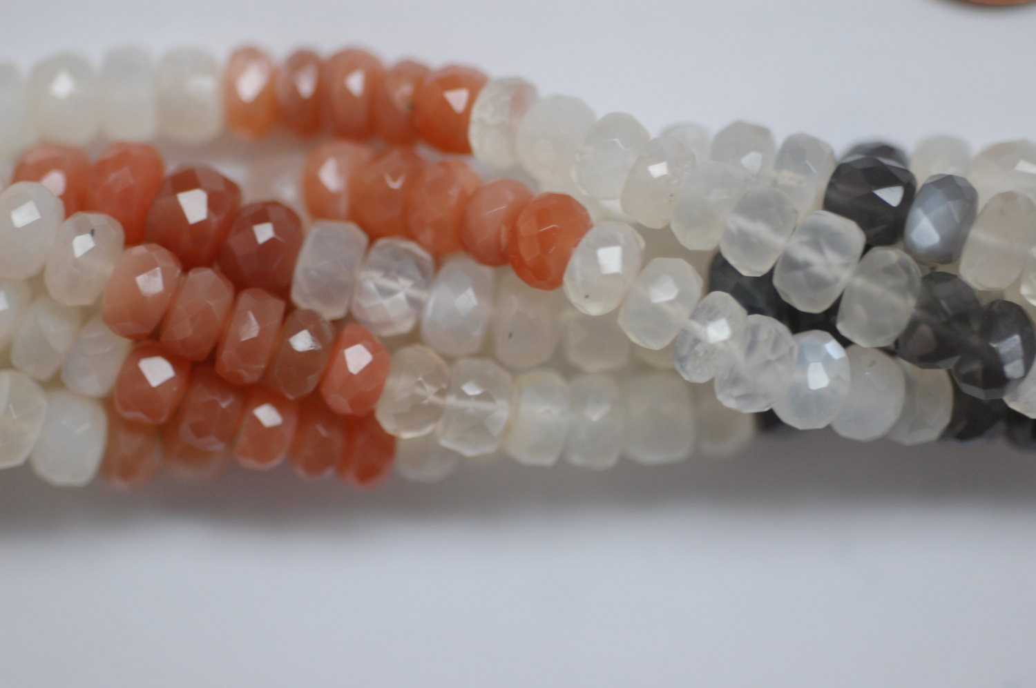 Multi Moonstone Rondelle Faceted
