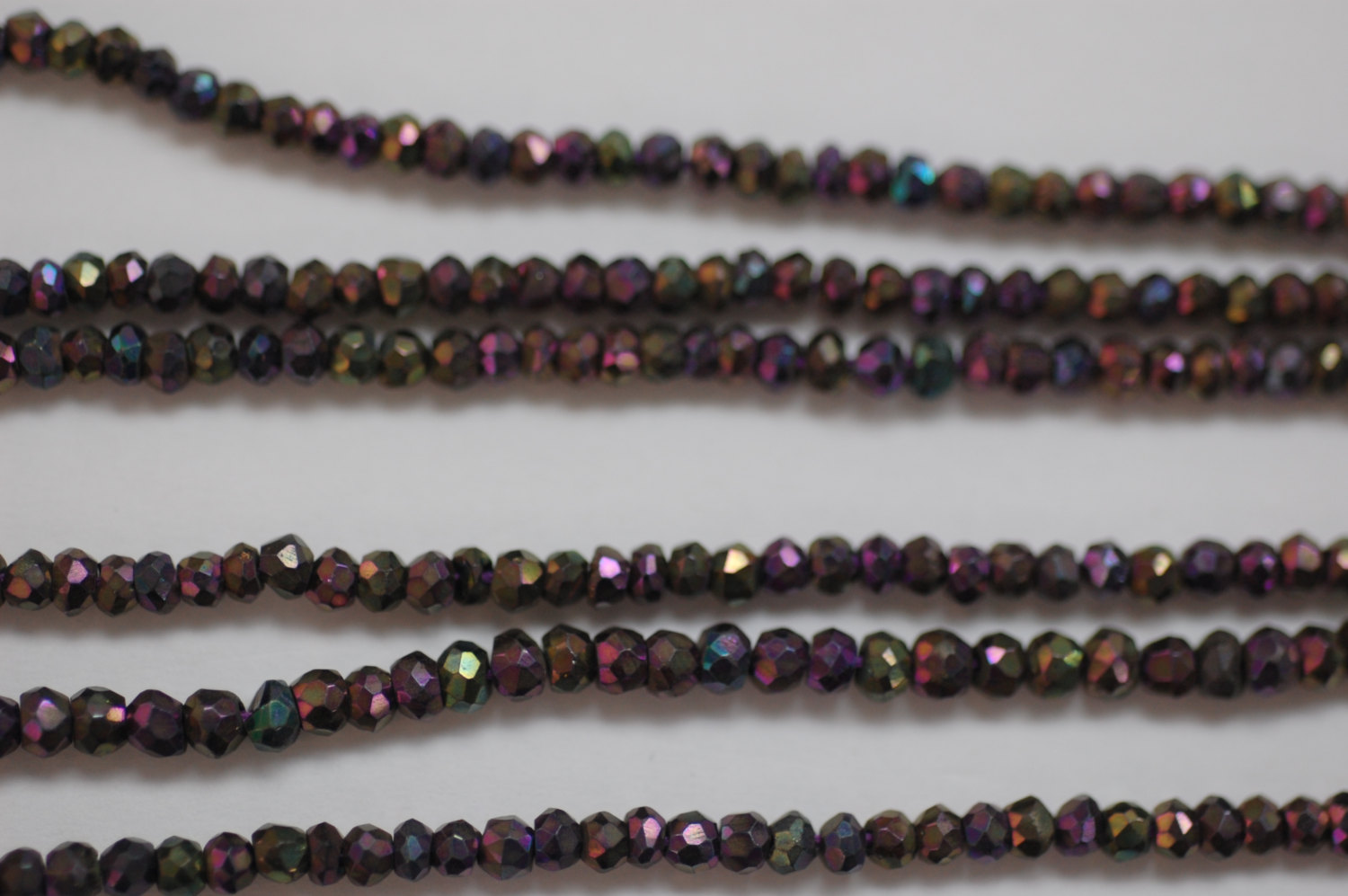 Multi Pink Spinal Rondelle Faceted