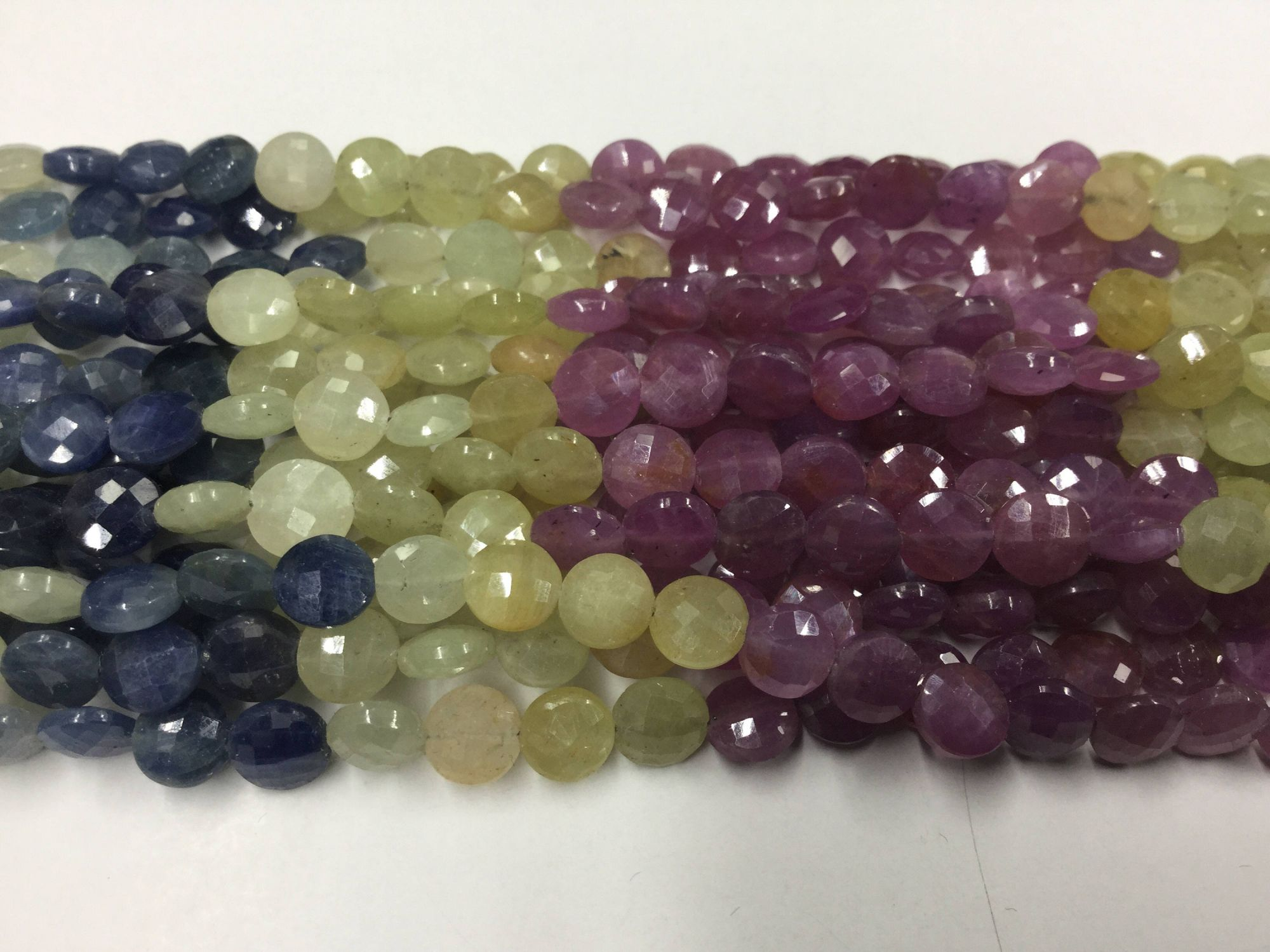 Multi Sapphire Coins Faceted