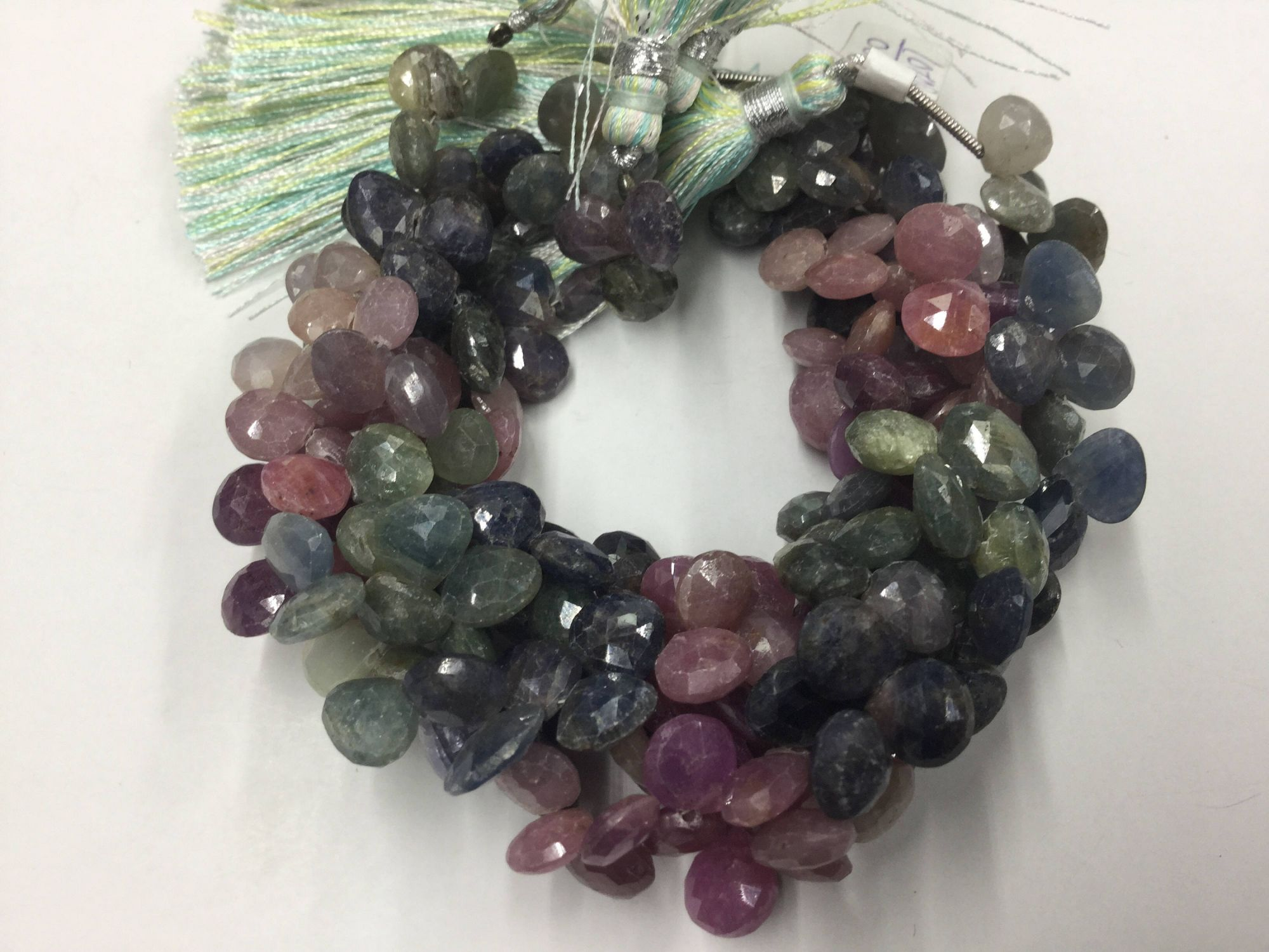 Multi Sapphire Hearts Faceted