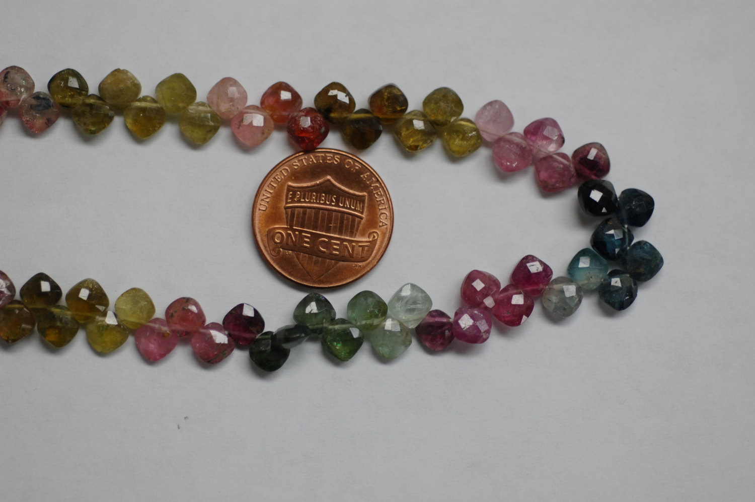 Multi Tourmaline Cushion Checker Board Cut
