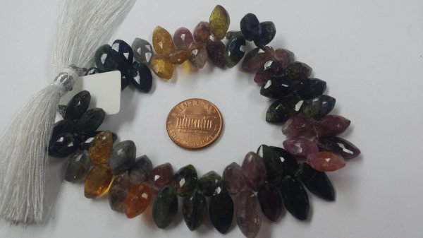 Multi Tourmaline Marquise Faceted