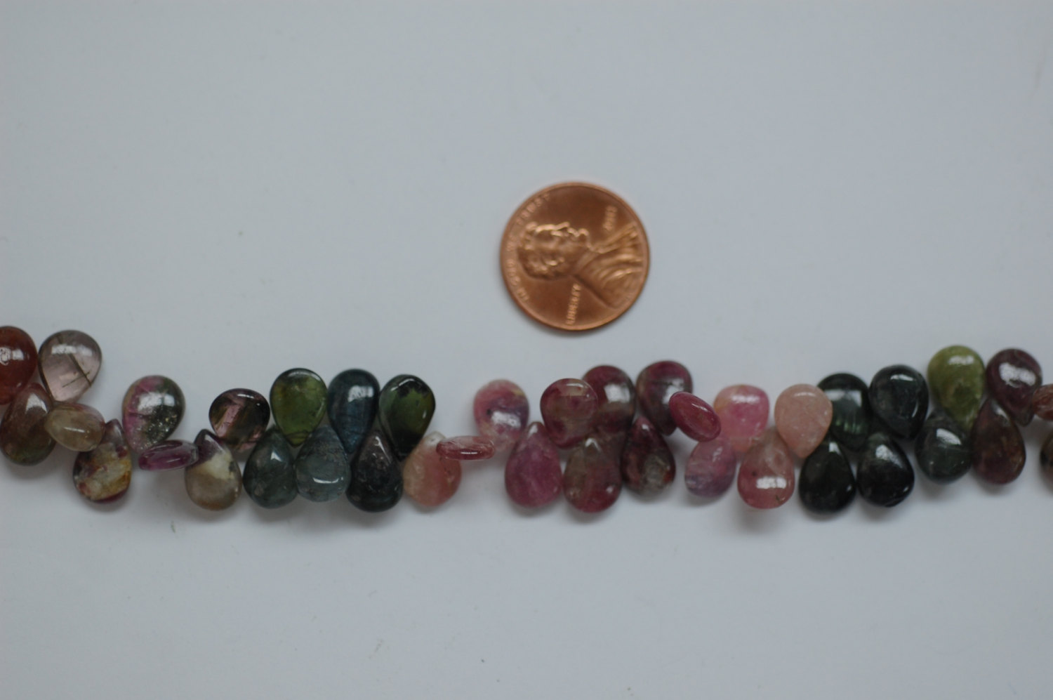 Multi Tourmaline Pear Smooth