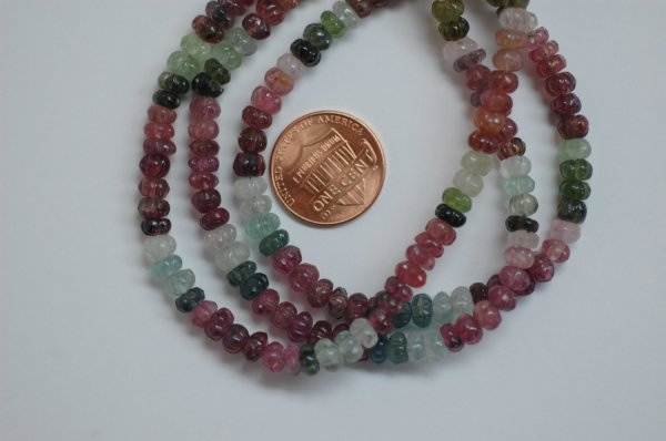 Multi Tourmaline Pumpkin Faceted