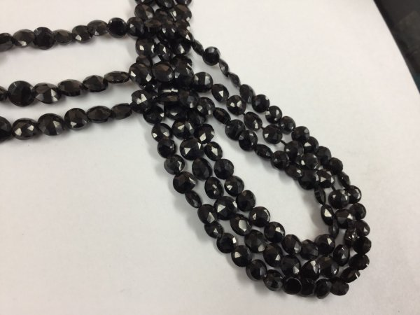 Mystic Black Spinel Coins Faceted