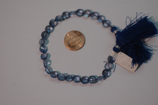 Mystic Blue Coins Faceted