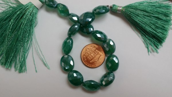 Mystic Green Onyx Oval Straight Drill