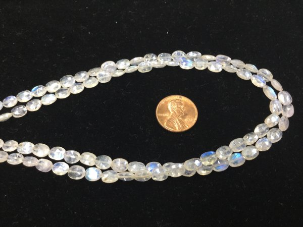 Mystic Moonstone Ovals Faceted