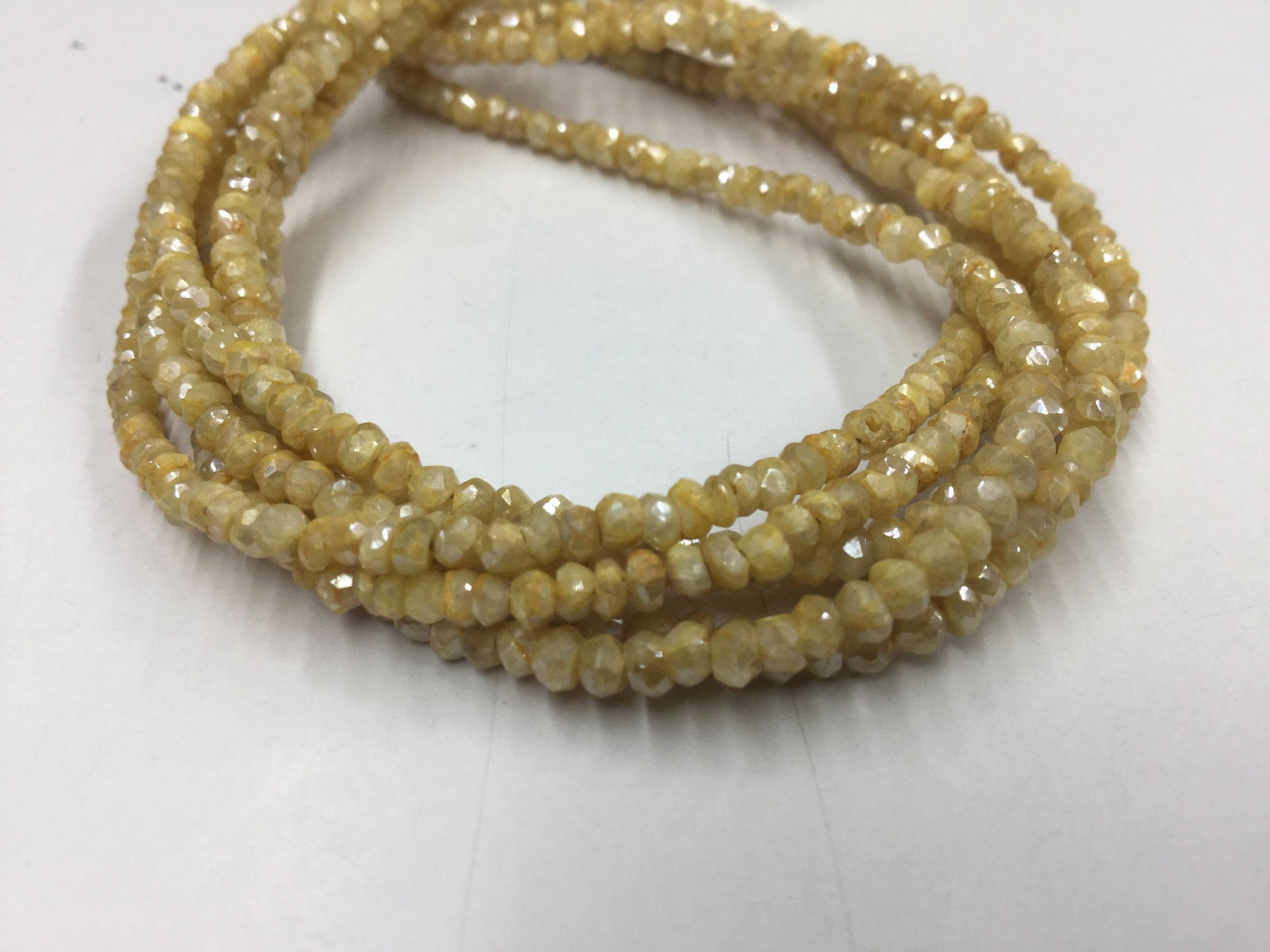 Mystic Yellow Moonstone Rondelles Faceted